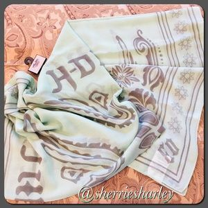 🆕✅Oversize Harley-Davidson Scarf 🧣 Mint Green